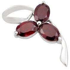 925 sterling silver 5.08cts natural red garnet oval pendant jewelry p82540