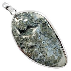 925 sterling silver 36.19cts natural white marcasite in quartz pendant p44033