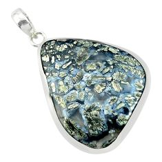 925 sterling silver 27.46cts natural white marcasite in quartz pendant p53868