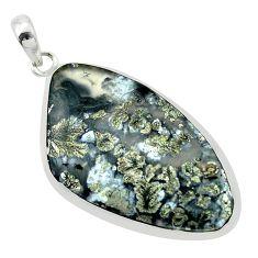 925 sterling silver 29.09cts natural white marcasite in quartz pendant p53898