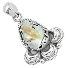925 sterling silver 10.37cts natural white pearl fancy pendant jewelry p34349
