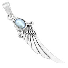 925 sterling silver 2.05cts natural white pearl oval pendant jewelry p36054