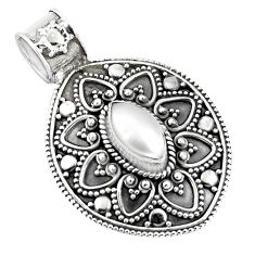 925 sterling silver 2.63cts natural white pearl pendant jewelry p90238