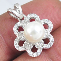 925 sterling silver 2.96cts natural white pearl topaz pendant jewelry c2878