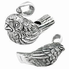 11.24gms whistle edwardian style bird 925 sterling silver pendant jewelry a82051