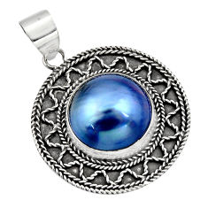 13.63cts natural titanium pearl 925 sterling silver pendant jewelry c7806