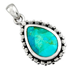 3.83cts green arizona mohave turquoise 925 sterling silver pendant jewelry c8564