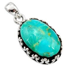 7.50cts green arizona mohave turquoise 925 sterling silver pendant jewelry c8825