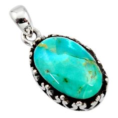 7.50cts green arizona mohave turquoise 925 sterling silver pendant jewelry c8827