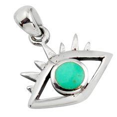 3.48gms green arizona mohave turquoise enamel 925 sterling silver pendant c8832