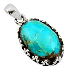 925 sterling silver 7.50cts green arizona mohave turquoise pendant jewelry c8833