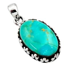 7.50cts green arizona mohave turquoise 925 sterling silver pendant jewelry c8838