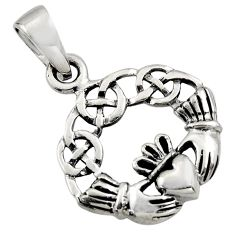 4.03gms indonesian bali style solid 925 silver heart charm pendant c8943