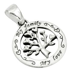 925 silver 2.27gms indonesian bali style tree of connectivity pendant c8964