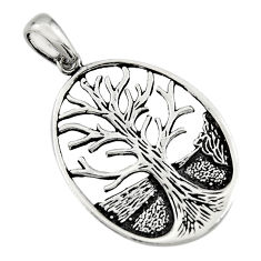 4.48gms indonesian bali style 925 silver tree of connectivity pendant c8971