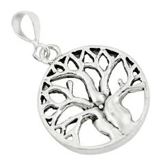 3.26gms indonesian bali style 925 silver tree of connectivity pendant c8986