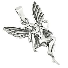 4.89gms indonesian bali style solid 925 sterling silver angel pendant c8987