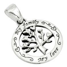 2.26gms indonesian bali style 925 silver tree of connectivity pendant c8998