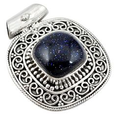 Natural blue goldstone 925 sterling silver pendant jewelry d11242