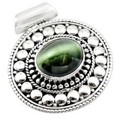 925 sterling silver green cats eye oval shape pendant jewelry d13200