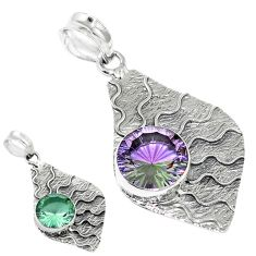 Purple alexandrite (lab) 925 sterling silver pendant jewelry d13680