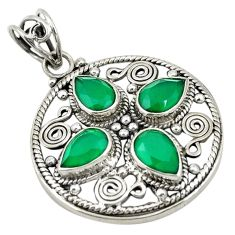 Green emerald quartz 925 sterling silver pendant jewelry d19294