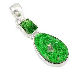 925 sterling silver natural green uvarovite garnet pendant jewelry d19680
