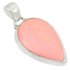 Natural pink opal pear 925 sterling silver pendant jewelry d21967
