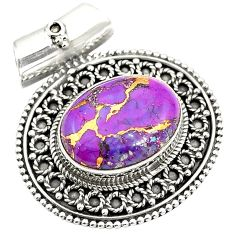 Purple copper turquoise 925 sterling silver pendant jewelry d24198