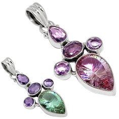 Purple alexandrite (lab) amethyst 925 sterling silver pendant jewelry j37799