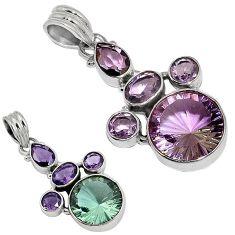 Purple alexandrite (lab) amethyst 925 sterling silver pendant jewelry j37800