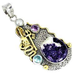 925 silver victorian purple chevron amethyst snake pendant jewelry k19879