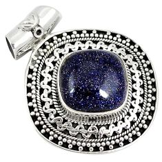 Natural blue goldstone 925 sterling silver pendant jewelry k37493