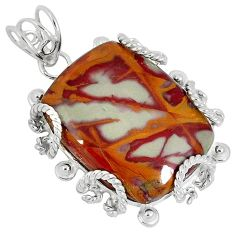 Natural brown noreena jasper 925 sterling silver pendant jewelry k37583