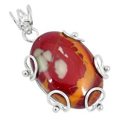 Natural brown noreena jasper 925 sterling silver pendant jewelry k37584