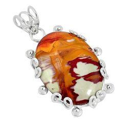 Natural brown noreena jasper 925 sterling silver pendant jewelry k37588