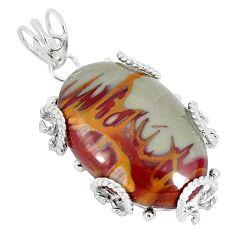 925 sterling silver natural brown noreena jasper oval pendant jewelry k37597