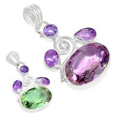 Purple alexandrite (lab) amethyst 925 sterling silver pendant k53852