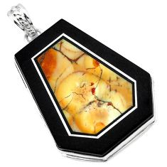 Natural white howlite calcite 925 sterling silver pendant jewelry k61611