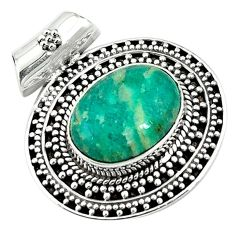 Natural green aventurine (brazil) 925 sterling silver pendant jewelry k66741