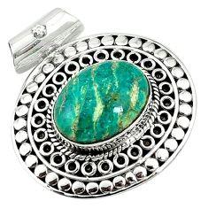 Natural green aventurine (brazil) 925 sterling silver pendant jewelry k66742