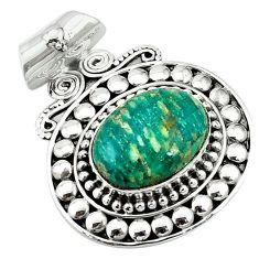925 sterling silver natural green aventurine (brazil) pendant jewelry k66743