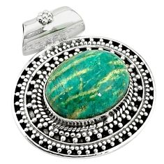 Natural green aventurine (brazil) 925 sterling silver pendant jewelry k66745