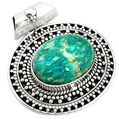 Natural green aventurine (brazil) 925 sterling silver pendant jewelry k66750