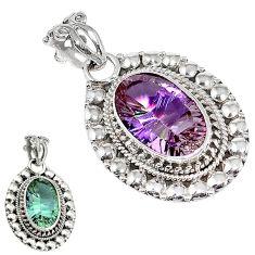 Purple alexandrite (lab) 925 sterling silver pendant jewelry k82799