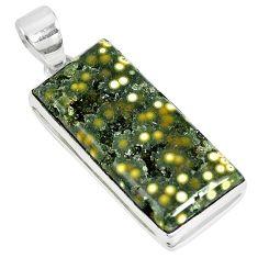 Ocean druzy baguette 925 sterling silver pendant jewelry k87448