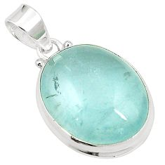 Natural untreated blue topaz 925 sterling silver pendant jewelry m33789