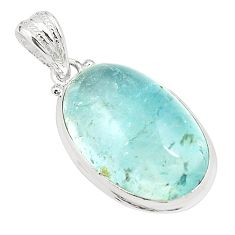 Natural untreated blue topaz 925 sterling silver pendant jewelry m33794