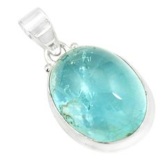 Natural cabs untreated blue topaz 925 sterling silver pendant jewelry m34027