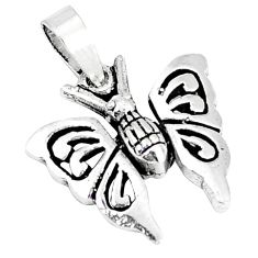 2.47gms indonesian bali style solid 925 sterling silver butterfly pendant p4233